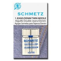 Schmetz 130 / 705 H-J ZWI NE 4,0 Aguja Tela Vaquera Doble